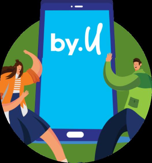Buka aplikasi/web by.U